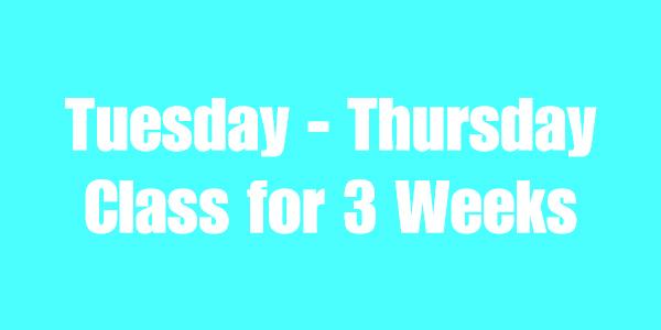 Tuesday - Thursday OW Text
